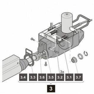 Sommer TWIST motor műanyag burkolat alsó rész